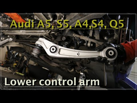 How to replace lower control arms on Audi A5 (1G) 2007-2016 | DIY | ASMR