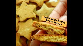 Wheat Butter Biscuits Recipe in a kadai -No oven-Healthy Kids snacks -Better than storebought ones