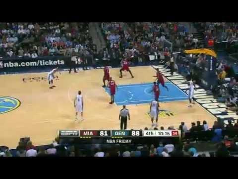 Miami Heat vs. Denver Nuggets (LeBron James, 35 Pts vs. Ty Lawson, 24 Pts), Jan. 13, 2012