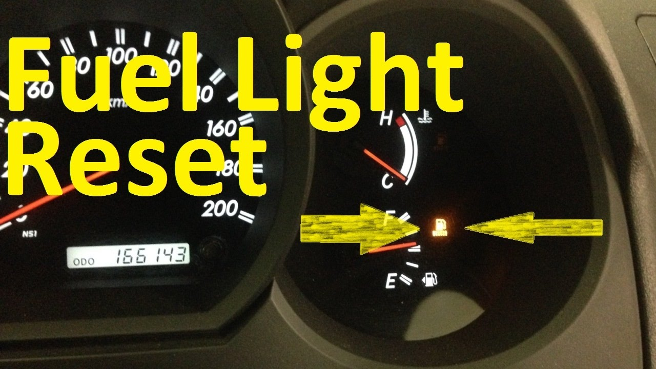 Toyota Fuel System Warning Light Reset - YouTube