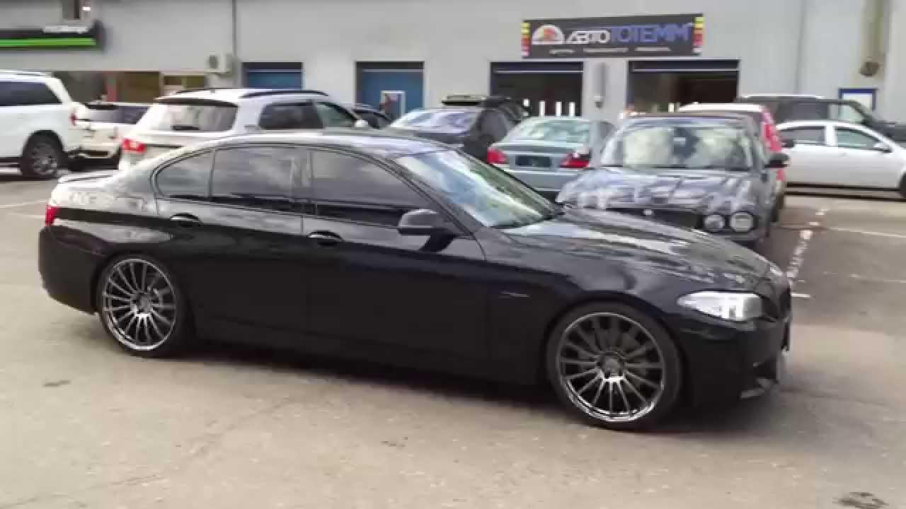 Bmw F10 R21 Wheels Advan Avs F15 Platinum Black Youtube
