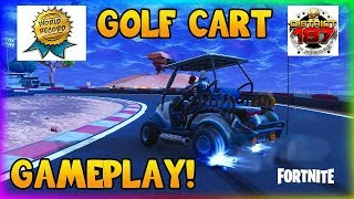 GAMEPLAY FORTNITE PS4 WORLD RECORD!? CIRCUIT OFFICIAL GOLF CAR 1M26S EN