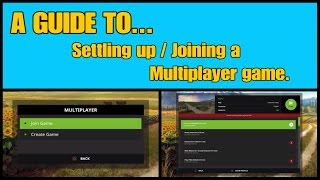 Farming Simulator 17 PS4: A Guide to... Setting up / Joining a Multiplayer game