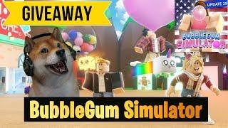 Roblox Bubble Gum Simulator Patriotic Giveaway LIVE 🔴 type !ko