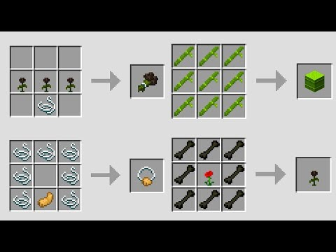 NEW Minecraft 1.14 Crafting Recipes! (Snapshot Update)