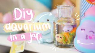 DiY mini aquariums in jars - polymer clay resin craft