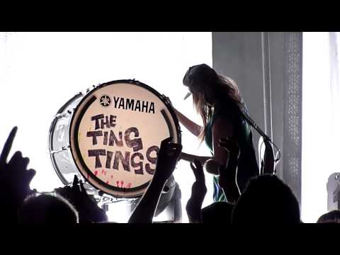 The Ting Tings - Katie White on Bass Drum - (Vancouver, Mar 27/12)