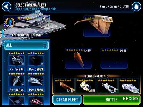 SWGOH Learn how to crush Mace Fleets with Thrawn and Tie Silencer