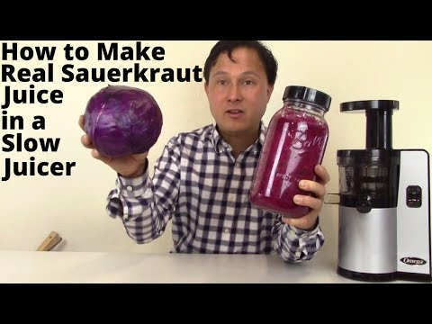 How to Make Fresh & Real Sauerkraut Juice in a Slow Juicer Recipe