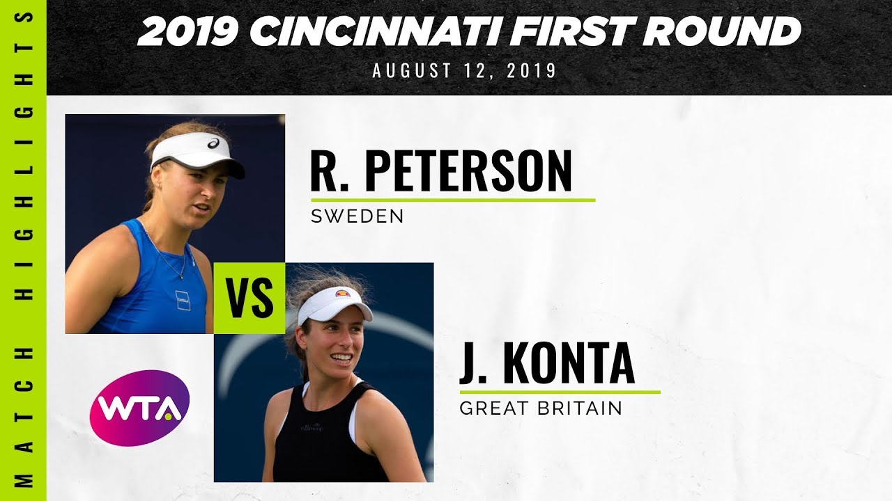 Rebecca Peterson vs. Johanna Konta  | 2019 Western & Southern Open First Round | WTA Highlights