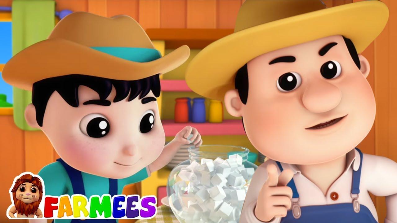 Johny johny si papa   Dibujos animados   Educación   Farmees Español   Rimas para niños