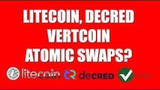 @Satoshilite Tweet fest about Atomic Swaps - Litecoin / Vertcoin - Litecoin / Decred - Litecoin / Bi