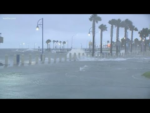 New Orleans lakefront windy, mild tropical weather Sunday morning ahead of Cristobal