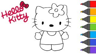 Hello Kitty | How to Draw | Coloring Book | ARTSY KIDS