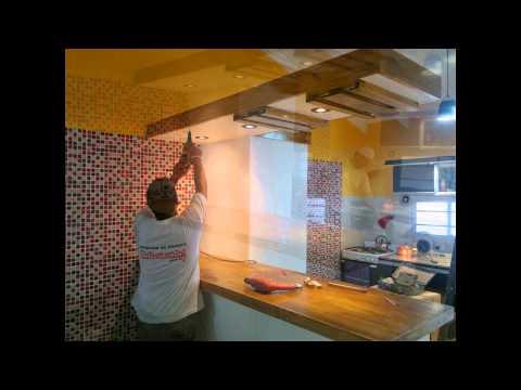 Creaci n de nueva cocina durlock venecitas pintura y - Pinturas para cocina ...