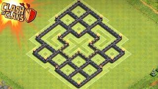 Clash of Clans - Best Town Hall 7 Dark Elixir Farming Base Speed Build!