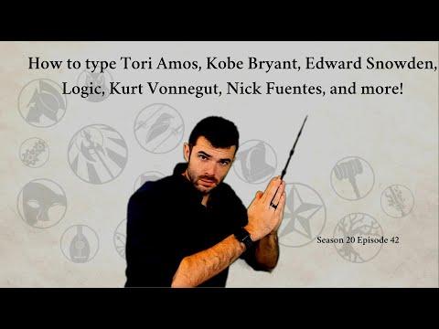 How to type Tori Amos, Kobe Bryant, Edward Snowden, Logic, Kurt Vonnegut, Nick Fuentes, and more!