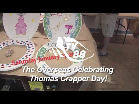 Promo for Thomas Crapper Day at Overseas Pub & Grill January 27, 2018