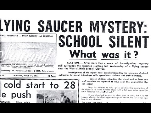 Westall '66: A Suburban UFO Mystery - Mass Australian UFO landing and sighting (50th anniversary)