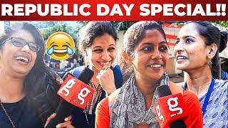 Republic Day I Chennai PULLINGO Marana Fun Replies I Public Opinion