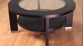 Alta 40-inch Round Glass Coffee Table By Armen Living