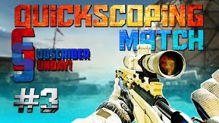 Call of Duty MW3: QuickScope Match - Subscriber Sunday (Call of Duty Multiplayer Gameplay)