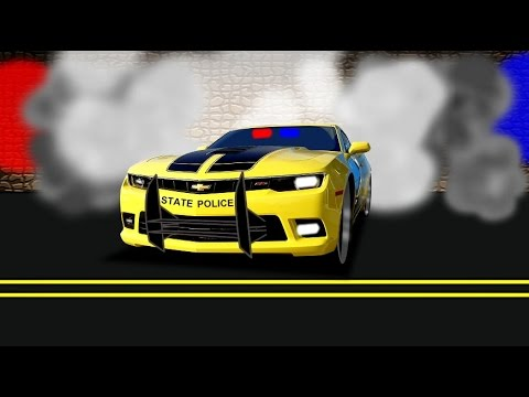 TRANSFORMER BUMBLEBEE STATE POLICE  SUPER CAR  YouTube