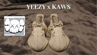 new product 4fe69 011d5 How to lace your yeezy 350 v2 the kaws way videos / InfiniTube