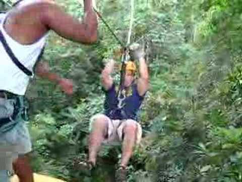 Zip Line in Waterfall Canopy