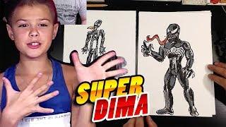 Как нарисовать ВЕНОМ из Человека-паука / Супер Дима