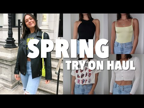 AFFORDABLE spring try-on clothing haul ft. Nasty Gal