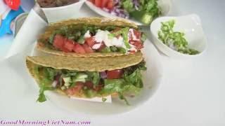 🌻Chị Bí Đỏ Hướng Dẫn Cách Làm Taco Bò Bầm -🌻Homemade Tacos Mexican Food [goodmorningvietnam]