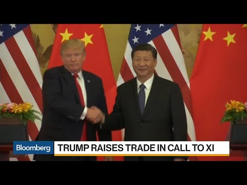 Trump Tells Xi U.S.-China Trade Deficit Is `Not Sustainable'
