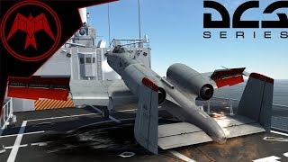 Landing a A-10C on The Oliver Hazard Perry Frigate Helipad