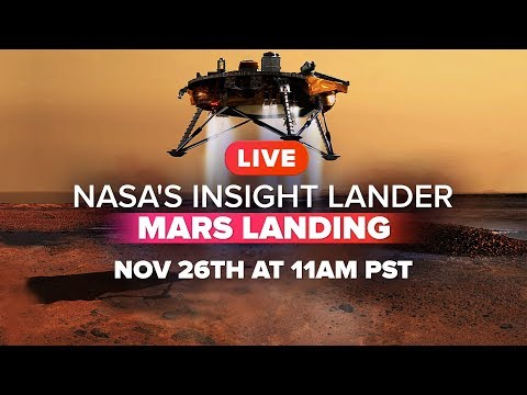 Watch NASA's InSight Lander touch down on Mars