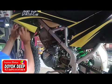 Cara pasang stiker variasi semi dekal motor yamaha AEROX.