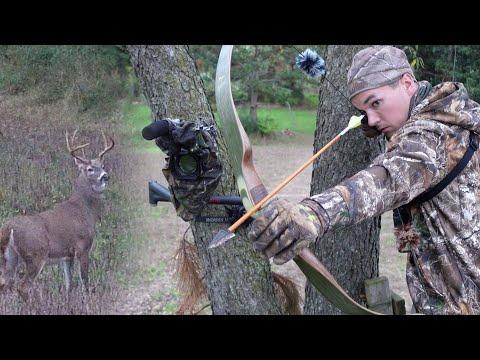 Michigan Bow Hunting | Big Buck at 5 YARDS