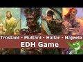 Trostani vs Multani vs Hallar vs Najeela EDH / CMDR game play for Magic: The Gathering