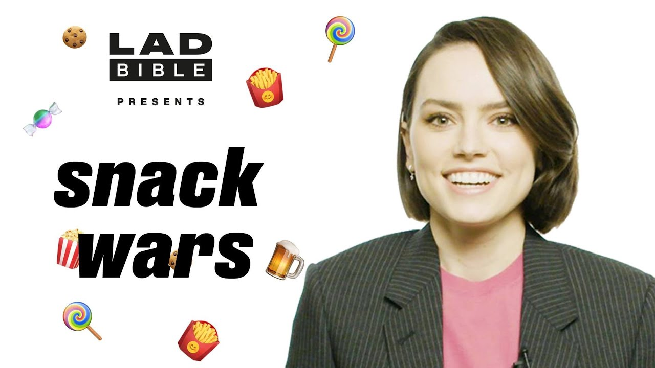 Daisy Ridley Tries British And American Snacks | Snack Wars | LADbible