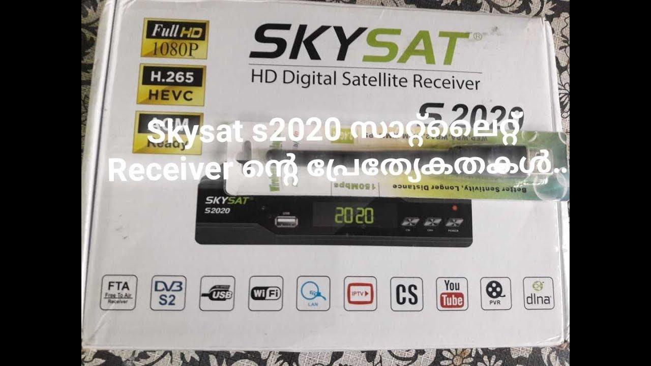 Skysat S2020 HEVC Satellite Receiver Malayalam