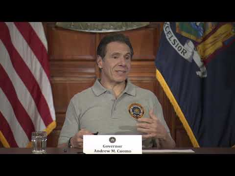 Gov. Andrew Cuomo at his news briefing on Monday, March 23 in Albany.