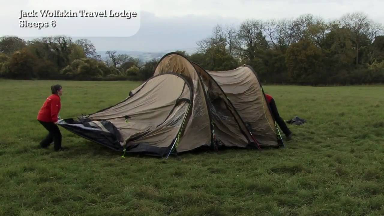 33460f045c Jack Wolfskin Travel Lodge - Tent Pitching Video - YouTube