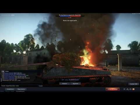 War Thunder | M4A4 Sherman SA50 VS TIGERS - SIMULADOR