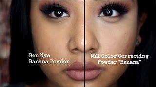 """Review/Demo/Comparison: NYX Color Correcting Powder """"Banana"""" vs. Ben Nye Banana Powder"""