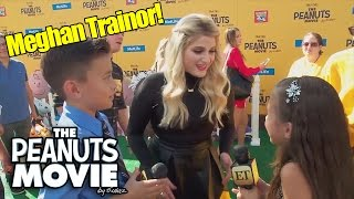 EVANTAINMENT TONIGHT!!! Jillian Meets Meghan Trainor at PEANUTS MOVIE Premiere!