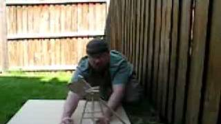 Tabletop Trebuchet Firing