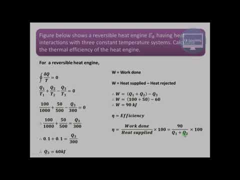 Solved examples on reversible heat engine rklearning