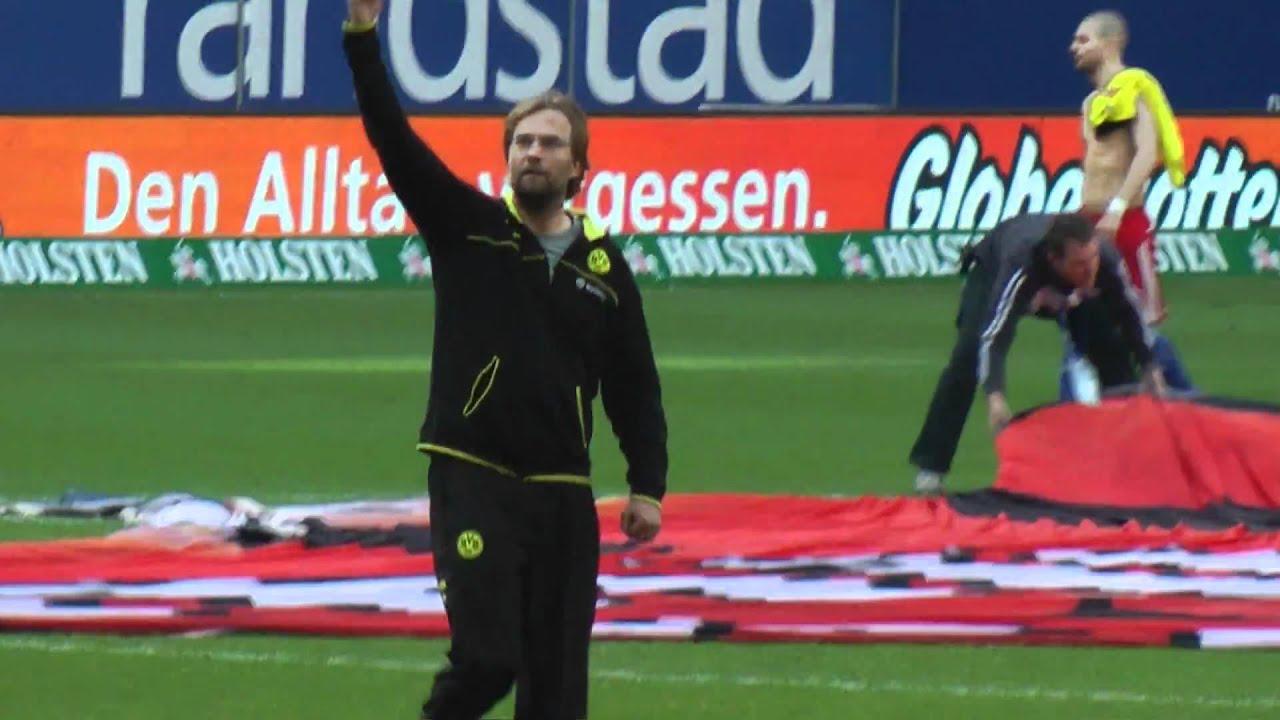 Jürgen Klopp nach dem Spiel Hamburg vs Dortmund HSV - BVB 1-1  Stimmung Fans