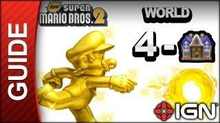 New Super Mario Bros. 2 - Star Coin Guide - World 4-Haunted House - Walkthrough