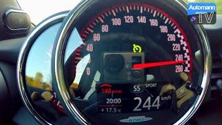 2016 MINI F56 JCW (231hp) - 0-244 km/h acceleration (60FPS)